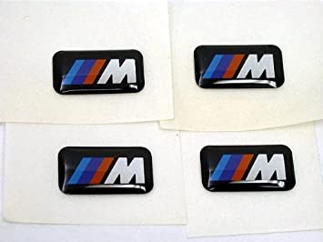 4x Stickers Car Styling Small Decorative Wheel Logo Badge Decal Emblem For BMW