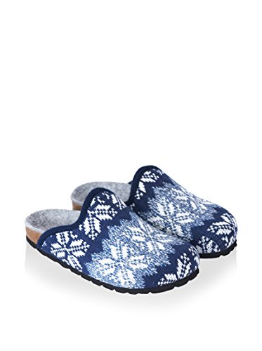 Mandèl Zapatillas de estar por casa Angel Snow Azul EU 40