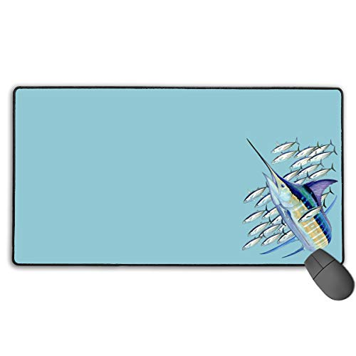 GGlooking Mousemat Harvey Marlin Mouse Pad Gaming Mat Computer Mousepad Large Non-Slip Keyboard Desk Accessories,Office & School Supplies ()