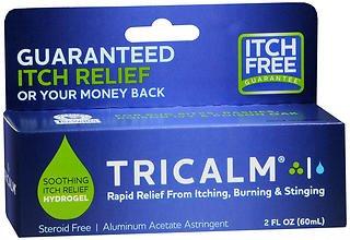 Tricalm Hydrogel Aluminum Acetate Astringent - 2 oz, Pack of 6