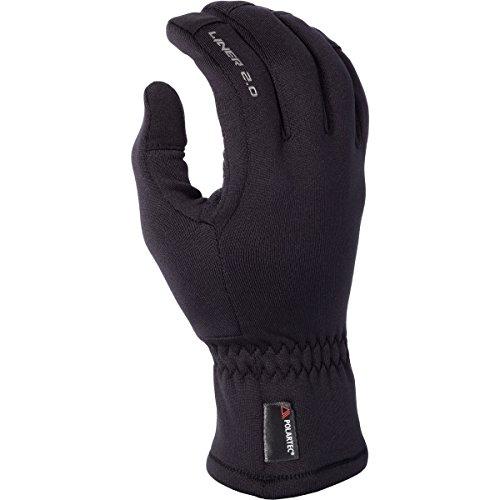Klim 2.0 Liner Men's Snow Snowmobile Gloves - Black / Large Polartec Liner