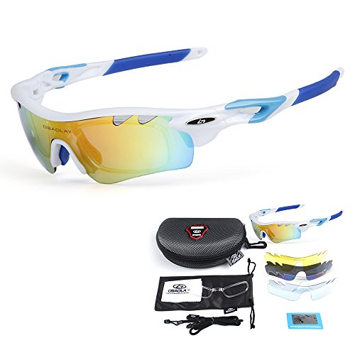 Polarizadas Gafas de de Lixada Bicicleta UV400 Ciclismo Anteojos Sol azul blanco dXwPqx5qnt