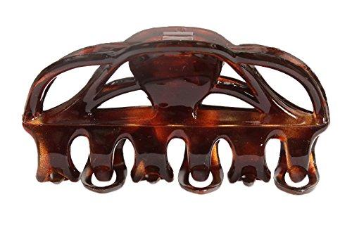 Caravan Non Metal Rubber Spring Tortoise Shell Royal Hair Claw, 0.5 - Tortoise Rubber