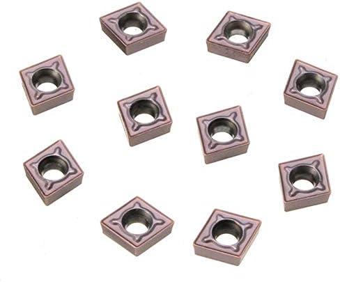 Carbide Werkzeug-Zubehör, CNC-Werkzeugzubehör, Ma Carbide Werkzeug CCMT060204 LF6018, 10 Stück Metallschneidwerkzeug