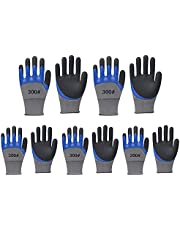 Work Gloves with latex coated-Safety garden gloves for women- Breathable rubber coated gardening gloves-Outdoor protective Working gloves large size-Mechanic gloves construction gloves for men