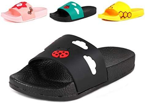 Anrenity Boys Girls Cute Casual Slide Sandals Summer Beach Pool Indoor Bath Slippers(Toddler//Little Kid)