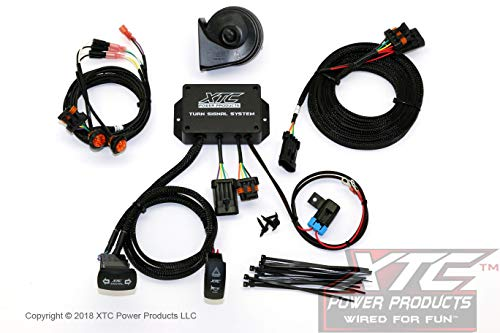 (XTC Power Products 2015-2017 Polaris RZR XP Street Legal Turn Signal System with Horn - Plug & Play - Fits RZR XP900/1000 - XP Turbos - 2/4 Seat Models - Uses Factory Tail Lights )