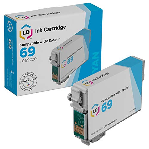 LD Products Remanufactured Ink Cartridge Replacement for Epson T069220 ( Cyan )