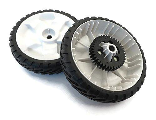 Lawn Mower 8' Wheel ((2) OEM Toro 8`` WHEEL GEAR ASSEMBLIES 115-4695 for RWD Push Lawnmower Lawn Mower ;supply_by_theropshop)