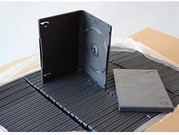 Bulk - Set de cajas para CD/DVD (100 unidades, 14 mm, con bolsillo ...