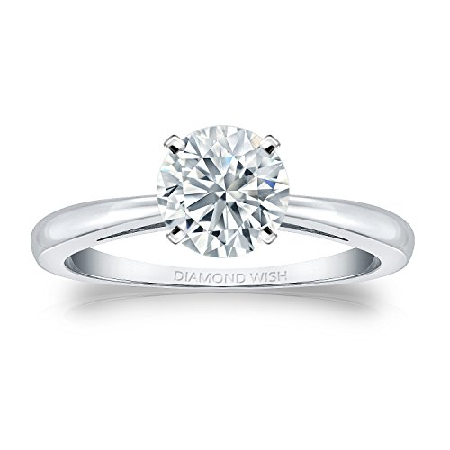 - Diamond Wish 14k White Gold Round-cut Diamond Solitaire Ring (1/3 ct, H-I Color, I1-I2 Clarity) Size 7