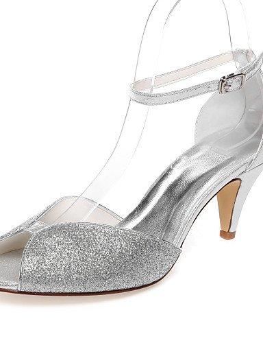 GGX/ Zapatos de boda-Sandalias-Punta Abierta-Boda / Vestido / Fiesta y Noche-Plata-Mujer , 2in-2 3/4in-silver 2in-2 3/4in-silver