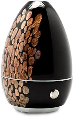 SpaRoom Aurumair Glass Speckled Essential Oil Diffuser and Fragrance Mister, 1 Pound