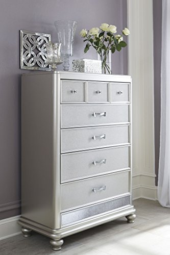 Regency 5 Drawer Chest - Ashley Coralayne 5 Drawer Chest in Silver