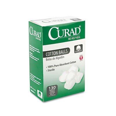 Curad CUR110163 Sterile Cotton Balls, 1