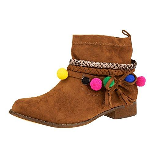 London Footwear ,  Damen Chelsea Boots Camel