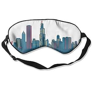 Sleep Mask 100% Natural Silk Eye Mask Glittering Blindfold Skyline Eye Cover Unisex Ultimate Sleeping Aid Eyeshade