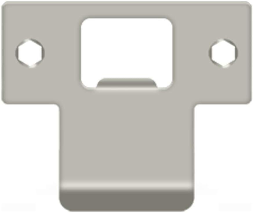 Deltana TSPE225 2-3//4 x 2-3//8 Extended Lip T-Strike Plate Oil Rubbed Bronze