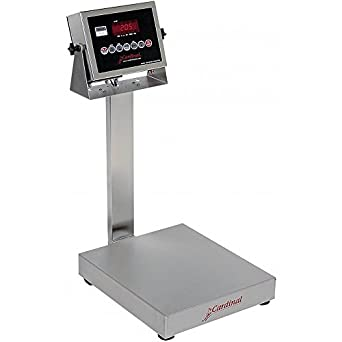 """Detecto EB-300-205 Bench Scale, Electronic, 300 lb. Capacity, Stainless Steel, 205 Indicator, 24"""" x 20"""""""