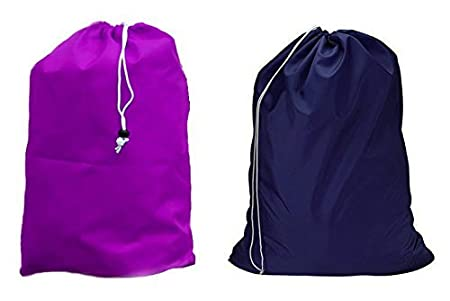 Assorted Colors and Designs HomeLux AX-AY-ABHI-81313 Large 28 X 38 Inch Heavy Duty Nylon Laundry Bag with Drawstring Closure