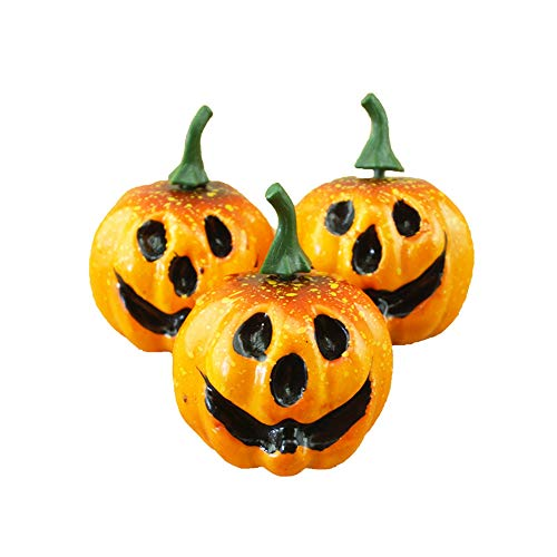 Party Diy Decorations - 6pcs 5 5cm Realistic Foamed Plastic Cute Grimace Pumpkin Toy Diy Halloween Table Decoration Parties - Backless Flying Magic Makeup Mask Spider Small Hold Garland Snow ()