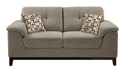 Emerald Home U3746-01-05 Martini Loveseat with 2 Pillows