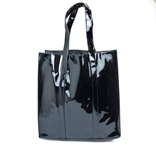 (Twelve Nyc Patent Tote Handbag (Black))