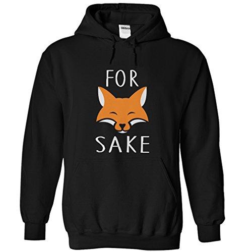 Gnarly Tees Men's for Fox Sake Hoodie XL Black