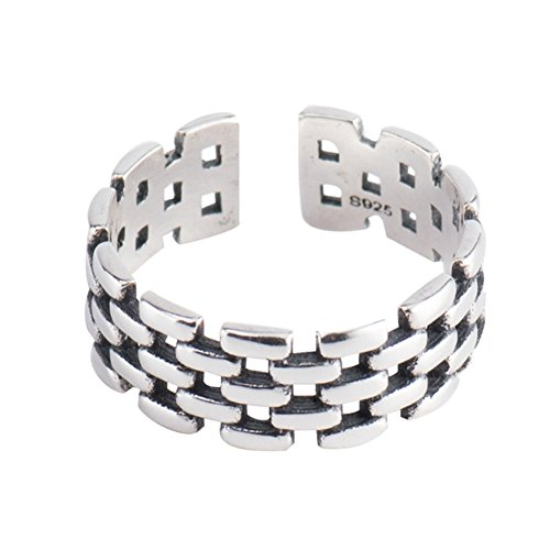 LILEI 925 Sterling Silver Open Band Toe Ring Vintage Watch Chain Punk Style for Women from LILEI