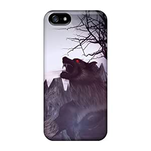 Fashion Case Cover For Iphone 5/5s(baying At The Moon)