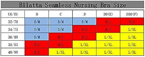 3-4 Piezas Bllatta Sujetador de Maternidad para Mujeres Bra sin Costuras Sujetadores para premam/á y de Lactancia