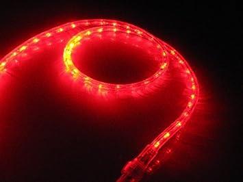 Amazon 25ft red led rope light kit for 12v system christmas 25ft red led rope light kit for 12v system christmas lighting outdoor rope lighting aloadofball Gallery