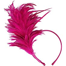 Felizhouse 1920s Fascinator with Feathers Headband for Women Kentucky Derby Wedding Tea Party Headwear