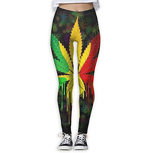 ings with Designs - Yellow Red Leaf Weed Interest Prints for Dkhh Storefront ()
