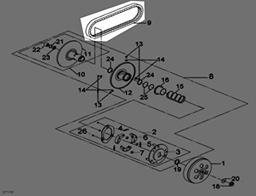 Can-Am 2008-2017 08-17 DS 250 CVT ATV Drive V Belt Assembly S1B01RB101 New OEM