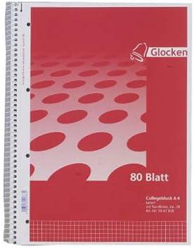 80 Blatt Spiralblock Notizblock Collegeblock A4 kariert
