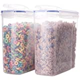 Biokips Cereal Container Airtight Watertight Cereal Keeper 16.9 Cup 135.5oz (2)