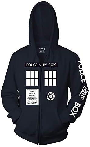 Ripple Junction Doctor Who Adult Unisex Complete Police Box Full Zip Fleece Hoodie