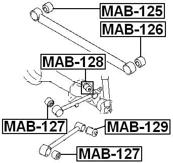 for Lower Lateral Control Rod Mb339157 For Mitsubishi Arm Bushing