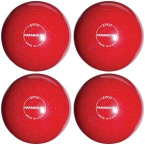 EPCO Candlepin Bowling ball- Speckled Houseball – レッド – 4 Balls  4 1/2 inch- 2lbs. 6oz.