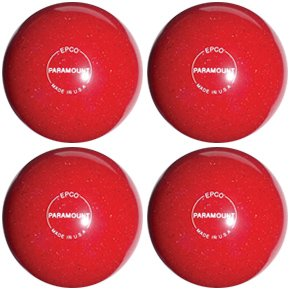 EPCO-Duckpin-Bowling-Ball-Speckled-Houseball-Red-4-Balls