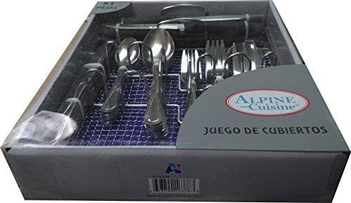 Alpine Cuisine 51 Pcs Cutlery Set – Knife | Dinner Fork| Dinner Spoon| Tea Spoon| Tea Fork| Serving Spoon| Serving Fork| Plastic Steak ()
