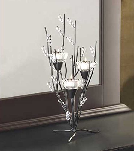 Crystal Tree Tealight Holder Candle Stand Table Centerpiece Crystal Tree Tealight Holder