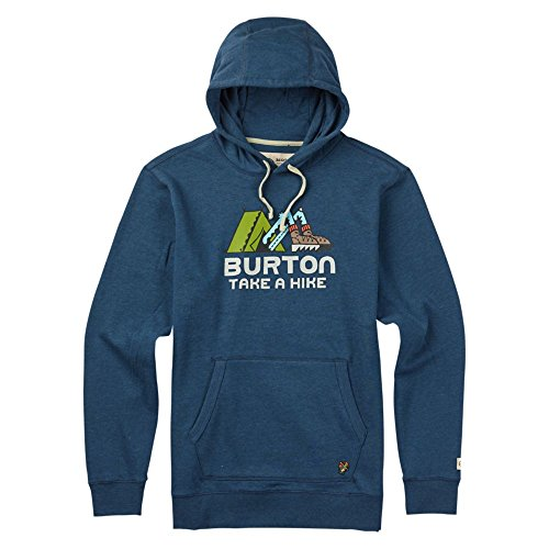 Burton Take A Hike Pullover Hoodie, Indigo Heather, Large