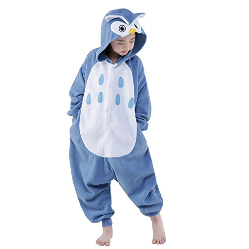 NEWCOSPLAY Unisex Children Owl Pyjamas Halloween Costume (10-Height 56-59