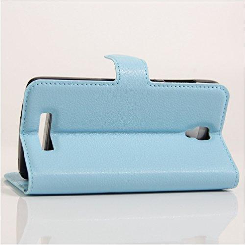 Funda ZTE L5 Plus,Manyip Caja del teléfono del cuero,Protector de Pantalla de Slim Case Estilo Billetera con Ranuras para Tarjetas, Soporte Plegable, Cierre Magnético D
