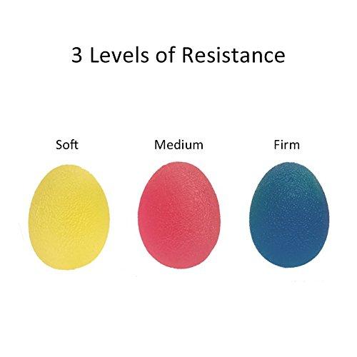 Bourses de stress pour exercices thérapeutiques pour le renforcement de la main, des doigts et des poings, ensemble de 3 résistances