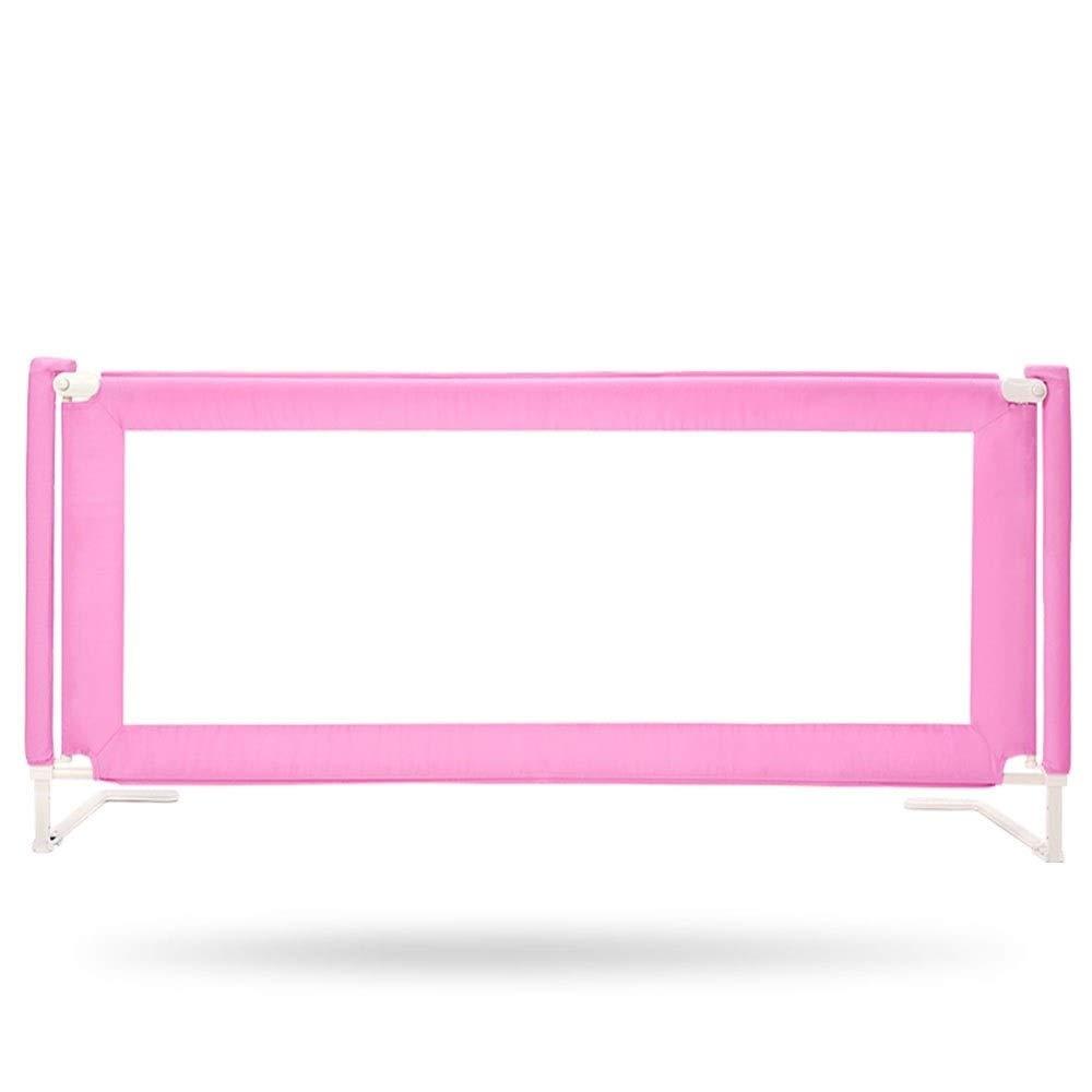 ベビーベッドレールサイドガード、安全ベッドガードレール、ポータブル垂直リフトデザイン (Color : Pink, Size : 150cm) 150cm Pink B07TZN9P4Z