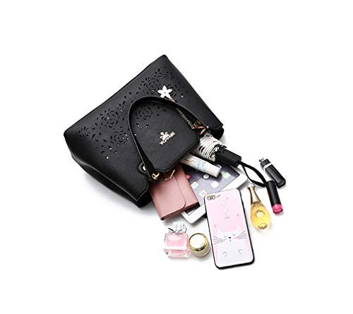 de sac à cuir 16 en Nouveau à main minimaliste bandoulière 23CM 33 dames bandoulière sac à Noir sac élégant vxx5f8q