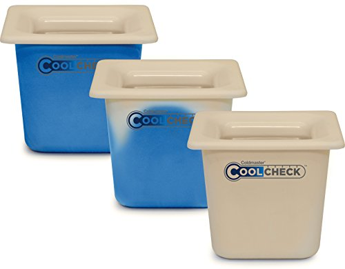 Carlisle CM1100C1402 Coldmaster CoolCheck 6'' Deep Full-Size Insulated Cold Food Pan, 15 Quart, Color Changing, White/Blue by Carlisle (Image #7)